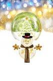 Noël et bonhomme de neige Images libres de droits