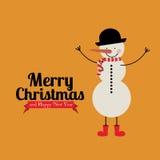 Noël et bonne année illustration stock