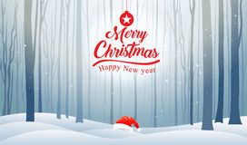 Noël et bonne année, typographie, fond de Noël avec W Photographie stock