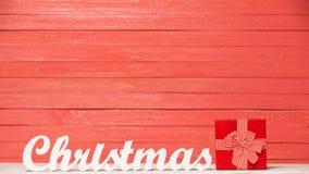 Noël et cadeau de Word Images stock
