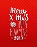 Noël et dix-neuvième affiche heureuse illustration stock