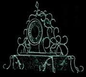 Noël et horloge de nouvelle année Image libre de droits