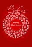 Noël et la guirlande de nouvelle année faite à partir des flocons de neige neigent Photo stock