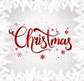 Noël et la nouvelle année typographiques sur le fond avec l'hiver aménagent en parc avec des flocons de neige, s'allument, des ét images libres de droits