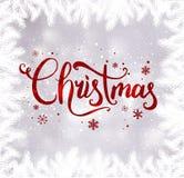 Noël et la nouvelle année typographiques sur le fond avec l'hiver aménagent en parc avec des flocons de neige, s'allument, des ét photos libres de droits