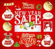 Noël et la vente de nouvelle année conçoit, des bannières Photos libres de droits
