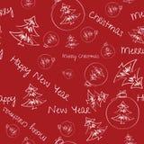 Noël et an neuf Carte de voeux de mouvement Photo stock