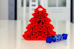 Noël et nouvelle année, bijoux, arbre, symboles Image stock