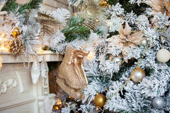 Noël et nouvelle année décorés photographie stock libre de droits
