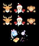 Noël et nouvelle année du singe Photos stock