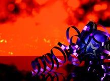 Noël et nouvelles décorations bleues de boule d'arbre du ` s d'année Photographie stock libre de droits