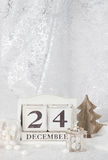 Noël Eve Date On Calendar 24 décembre Photo libre de droits