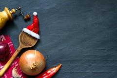 Noël faisant cuire le fond abstrait de nourriture Image libre de droits