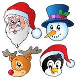 Noël fait face au ramassage 3 illustration de vecteur