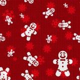 Noël Gingerbreds de vecteur Image libre de droits