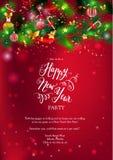 Noël heureux de carte rouge illustration de vecteur