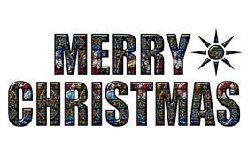 Noël heureux en verre souillé Photo stock