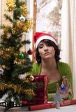 Noël isolé ennuyé Images stock