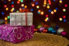 Noël, jour du ` s d'amour, paquets de cadeau d'occasion spéciale Image stock