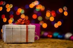 Noël, jour du ` s d'amour, paquets de cadeau d'occasion spéciale Photos libres de droits