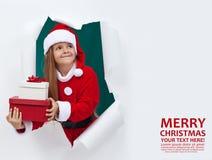 Noël joyeux avec un bon nombre de présents Photographie stock