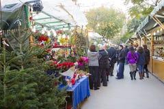 Noël juste à Barcelone Photo stock