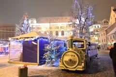 Noël juste à Riga Photographie stock