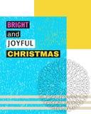 Noël lumineux et joyeux Photos libres de droits