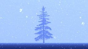 Noël ma version de vecteur d'arbre de portefeuille banque de vidéos