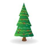 Noël ma version de vecteur d'arbre de portefeuille Photo stock