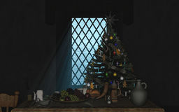 Noël ma version de vecteur d'arbre de portefeuille illustration libre de droits