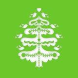 Noël ma version de vecteur d'arbre de portefeuille Calibre de coupe de laser Photos stock