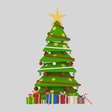 Noël ma version de vecteur d'arbre de portefeuille 3d Photo stock