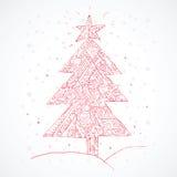 Noël ma version de vecteur d'arbre de portefeuille Vecteur Photos stock