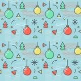 Noël Memphis Seamless Pattern de nouvelle année Image stock
