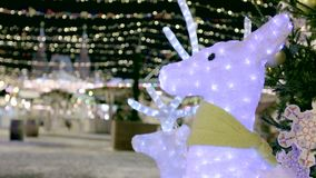 Noël a mené la décoration de cerfs communs clips vidéos