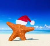 Noël merveilleux sur la plage Image libre de droits