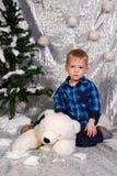 Noël mignon d'enfant de garçon Images stock
