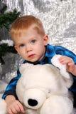 Noël mignon d'enfant de garçon Photos libres de droits