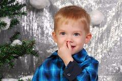 Noël mignon d'enfant de garçon Images libres de droits