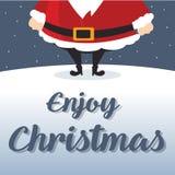 Noël mignon de carte avec Santa Images libres de droits