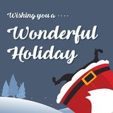 Noël mignon de carte avec Santa Photo libre de droits