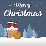 Noël mignon de carte avec Santa Images stock