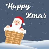 Noël mignon de carte avec Santa Image stock