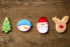 Noël mignon de fête traditionnel de biscuits photo stock