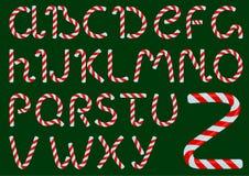 Noël mire l'alphabet Photo libre de droits