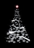 Noël moderne d'argent Images libres de droits