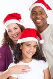 Noël multiracial de famille Photo libre de droits