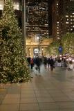 Noël New York d'avenue de stationnement Images libres de droits