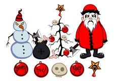 Noël noir en métal Photographie stock